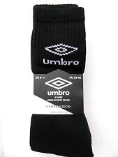 Sport Tennis Socken Herren Umbro schwarz 6 Paar EU 39-45 Strümpfe Fitness