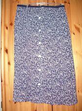 Damenrock Gr. 42 bardehle blau-ecrue kleingeblümt