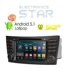 Android 5.1 GPS In Car Stereo Radio CD DVD Mercedes BENZ E/CLS/G-Class W211 W219