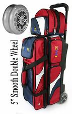 KAZE 3 / 4 Ball Bowling Roller Tote Bag with Double Smooth PU Wheels + ADD-ON