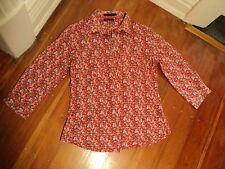 david lawrence floral liberty type cotton voile shirt 10   *