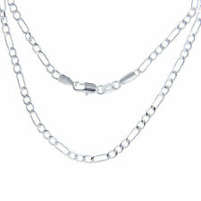 Brand New Sterling Silver Figaro Chain Necklace 28 inch - 71 cm long Stamped 925