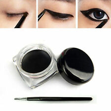 NE Black Beauty Cosmetic Waterproof Eye Liner Eyeliner Shadow Gel Makeup + Brush