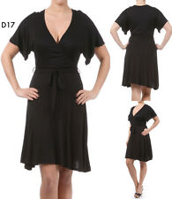 D17 New Ladies Black Size 14/16 Summer Beach Evening Cocktail A Line Party Dress