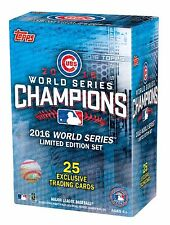 CHICAGO CUBS 2016 TOPPS WORLD SERIES BOX SET ( 25 EXCLUSIVE CARDS )