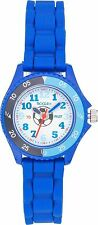 TIKKERS CHILDRENS TIME TEACHER WHITE DIAL BLUE SILICONE RUBBER STRAP WATCH-TK002