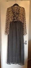 Lovely Ladies Just Addict Floral &Square Patterned Long Sleeve Maxi Dress-Size L