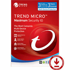 Trend Micro Titanium Maximum Security 10 2017 3 Year 3 PC Mac Smartphone License
