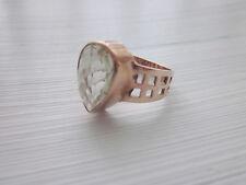 echter grüner 5,5ct. AMETHYST Ring TROPFEN Silber 585 GOLD Gr. 57 rosegold