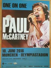 PAUL McCARTNEY 2016 MÜNCHEN -- Tour Poster -- Konzert Poster  118 X 84 cm