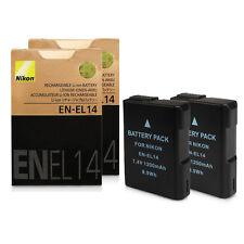 2xDecoded Battery for Nikon EN-EL14 COOLPIX D3100 D3200 P7000 P7700 D5500 df
