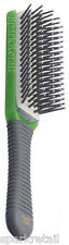 Kent Small CANDY Hairbrush GREEN Cushion Nylon Ball Tipped 5 Row BRUSH