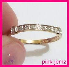 Solid 9ct Gold Ring with 8 Real Natural Diamonds, Stamped 375 & 9k, Size 7