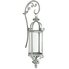 Metal Wall Candle Holder Sconce Shabby Vintage Chic Cream/Off White