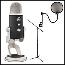 Blue Microphones Yeti Pro USB Condenser Microphone with Boom Stand & Pop filter