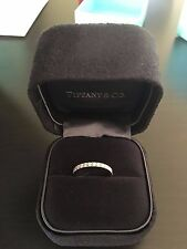 Tiffany® Diamond Wedding Band 2mm Diamond Wedding Band Ring with receipt