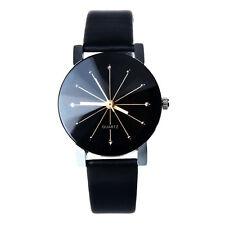 NEU Mode Damen Casual Quarz Uhr Uhren Edelstahl Leder Diamant Sport Armbanduhr
