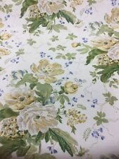 SANDERSON CURTAIN FABRIC ALSACE Ivory/Primrose   By The Metre