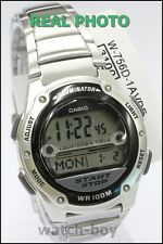 W-756D-1A Casio Men's Stainless Steel Band Digital 10-Year Battery Sports New
