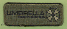 RESIDENT EVIL UMBRELLA CORP. TAG  PATCH   ( Subdued - Green))