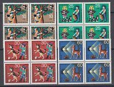 Berlin 418-421 VB ** Jugend 1972 Tierschutz  postfrische Viererblöcke 4 Werte