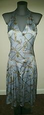 KAREN MILLEN pale blue silk dress size 12