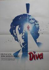 Original Kino Filmplakat A 1 DIVA von Jean Jacques Beineix Kultfilm der 80 Jahre