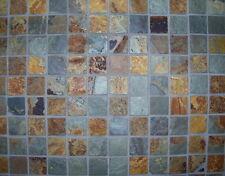 1,02 qm Naturstein Schiefer Mosaik Fliesen Natursteinfliese Netz Mosaikfliese