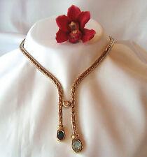 Ideales Pierre Lang Collier Collierkette mit Stein vergoldet Kette / ah 742