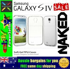 Samsung Galaxy S 4 S4 Clear Soft Gel TPU flexible clear fitted case cover skin