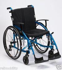 Enigma Spirit Lightweight Aluminium Folding Self Propelled Wheelchair Blue