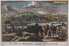 Trier - La Cittá di Treveri ... - Seltener Kupferstich von Salmon um 1740