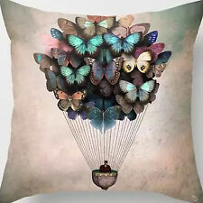 18'' Super Soft Cotton Velvet Butterfly Balloon Pillow Case Cushion Cover New