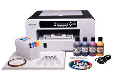 RICOH Aficio SG 2100N A4 SUBLIMATION Printer and Heat Transfer ink BUNDLE