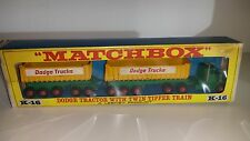 Matchbox King Size K16a Dodge Tractor Fuehauf Twintipper 1966& Repro Blister Box