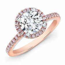 1.25Ct Diamond Engagement Wedding Rings Size M Fine 14kt Rose Ebay Gold 3005