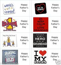 40 x Grandad/s Fathers Day labels/stickers for cake/sweets/presents/gift bags