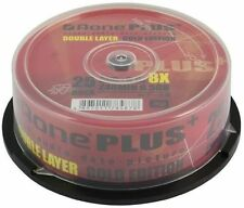 50 x Aone Gold Edition Dual Layer DVD+R DL 8X 8.5GB Disc pods of 25