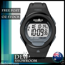 Timex Men's 10-Lap Ironman Triathlon Black Resin Watch T5k608 - Free Post in AU
