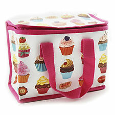 Kids Sweets Pink Cup Cakes Cupcakes School Insulated Cool Lunch Picnic Eco Bag