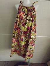 LOVELY Colourful Check Print Long Summer Dress .... Size 24,26,28,30,32  #O1016