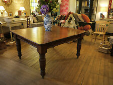 A solid wood square table