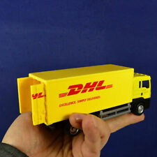 Collection Gift Scale 1/64  Diecast Container Truck Yellow Model For Express DHL