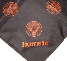 Jägermeister Tuch Halstuch Bandana Tischdecke Kopftuch schwarz orange 68 x 68 cm