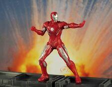 Marvel Superhero Figure Iron Man Mark V AVENGERS Status Model Cake Topper K789