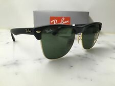 NEW Genuine RAYBAN CLUBMASTER OVERSIZED RB4175 877 57/16 Black/Gold Sunglasses