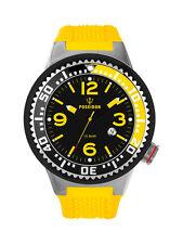 POSEIDON Herren-Armbanduhr XL Pro Analog Silikon UP00249 Gelb/Schwarz UVP 119,-€