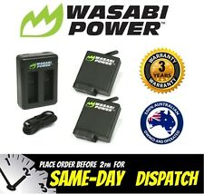 Wasabi Power Battery for GoPro HERO5 (1220mAh) x 2 with Dual USB Charger Go Pro