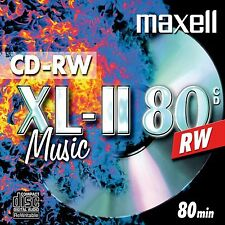 MAXELL CD-RW XL-II 80 MIN AUDIO MUSIC 700MB 52x REWRITABLE CD 1 PACK - BRAND NEW