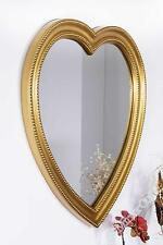 Large Gold Heart Shaped Wall Mirror